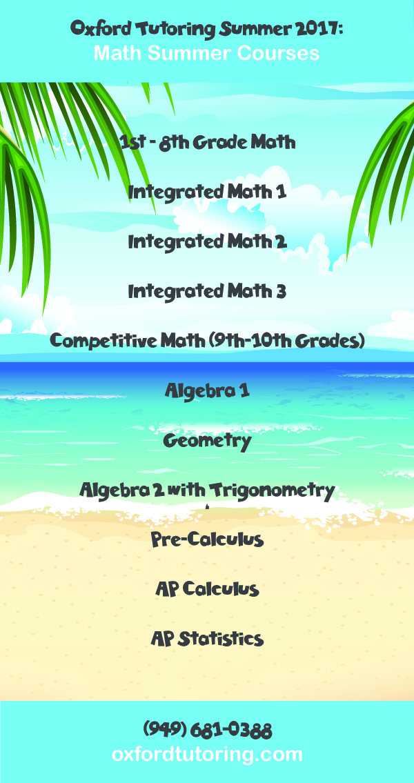 Summer Math Courses Graphic